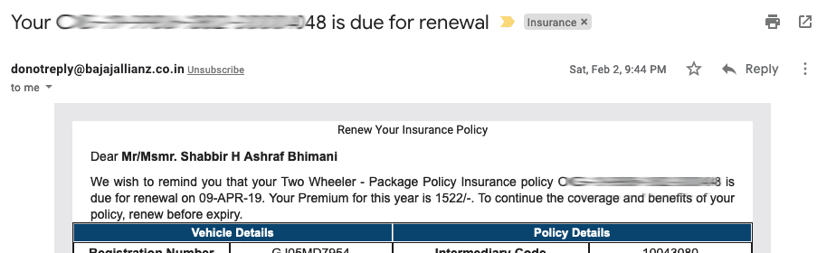 insurance expiring email subject lines
