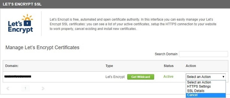 lets encrypt ssl certificate cancellation