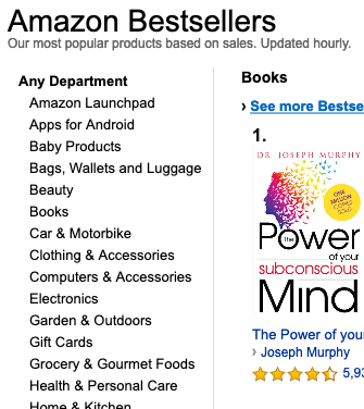 Choose the Bestsellers to Become Better Amazon India Affiliate