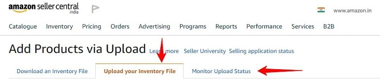 upload & monitor excel inventory file