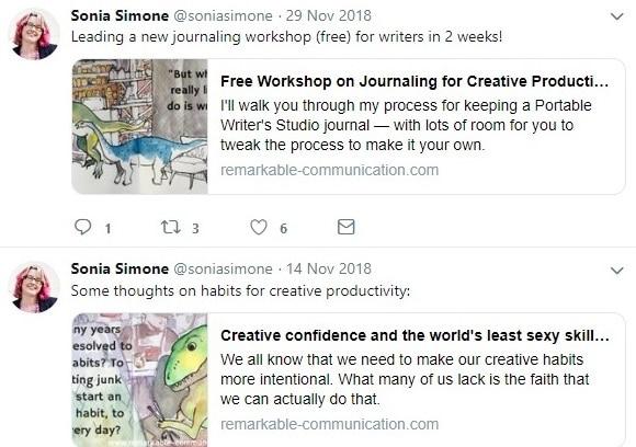 Sonia simone twitter account