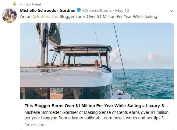 michelle schroeder gardner sense of cents twitter account