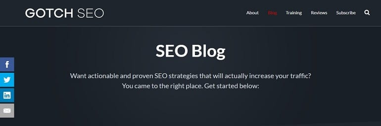 Best SEO Blog 2019 - GOTCH SEO