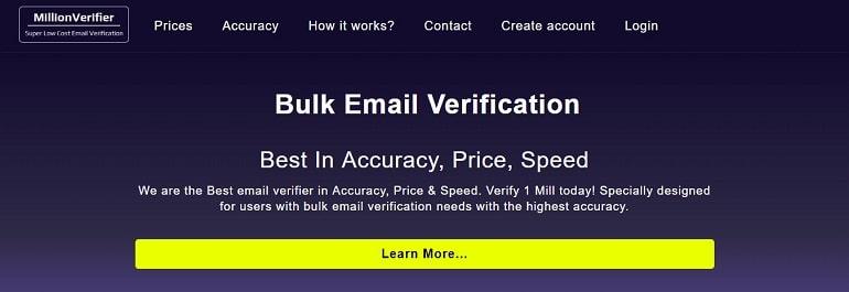 Bulk Email Verification - MillionVerifier