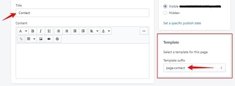 adding contact form in contact page