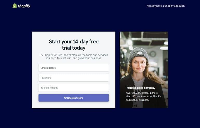 Singup to Setup Indian Shopify Store