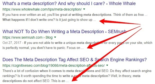 what if there is no meta description