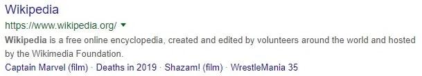 wikipedia meta des