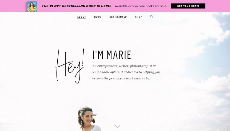Marie forleo about us page