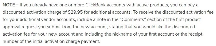 discounted activation fees in clickbank