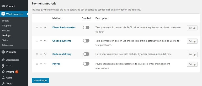 woocommerce payment integration