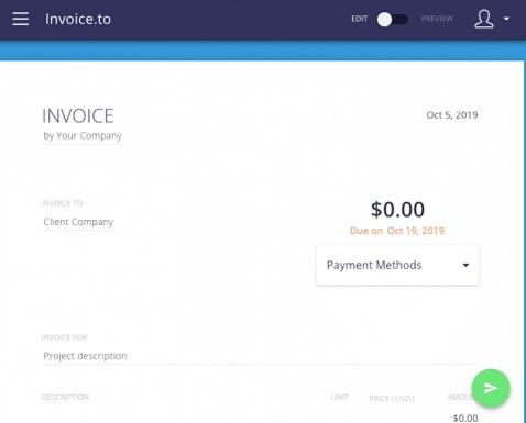 Invoice-to