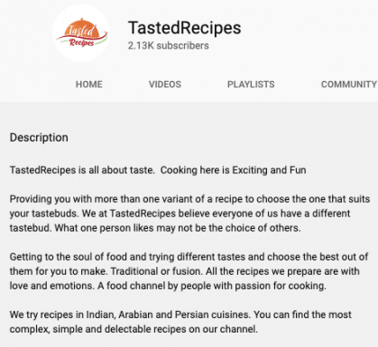 tasted-recipes-channel-description