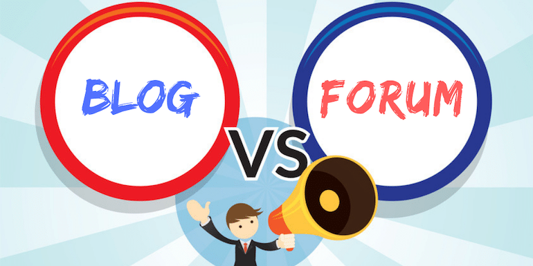 The Main Difference Between a Blog and a Forum