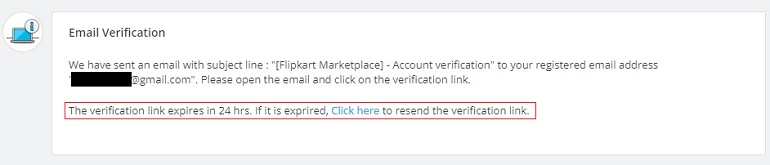 email verification in flipkart