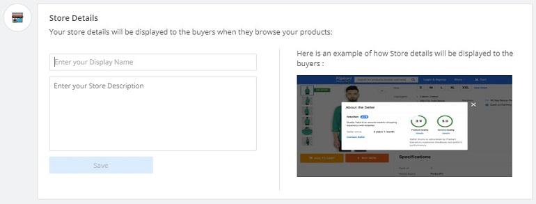 update store details in flipkart