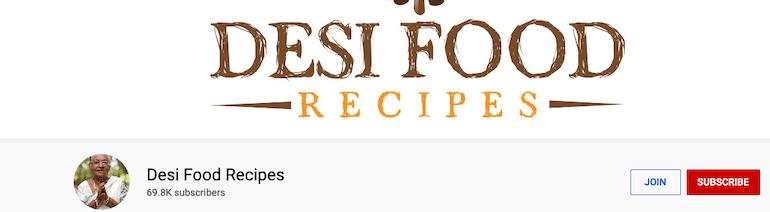 desi food recipes youtube videos