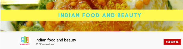 indian food and beauty