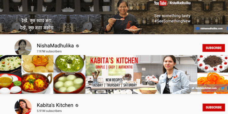 100 Best YouTube Channels For Indian Recipes