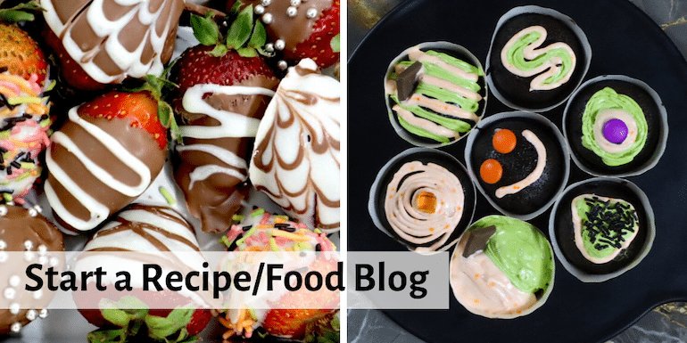 start a recipe/food blog featured image