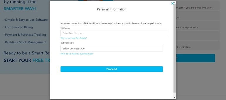personal information paytm seller registration