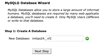MySQL Step1