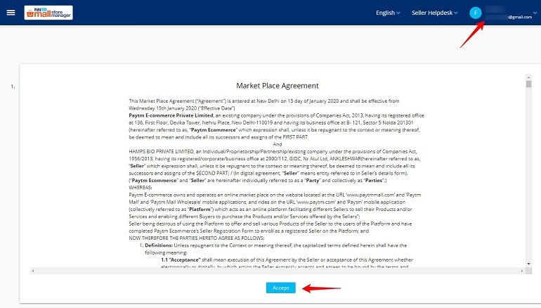 market place agreement