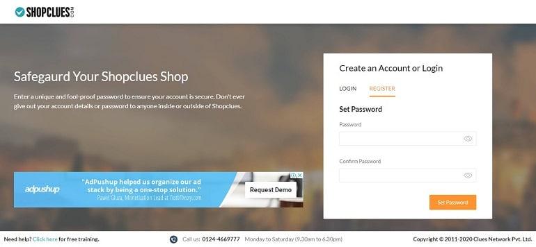 set password shopclues account