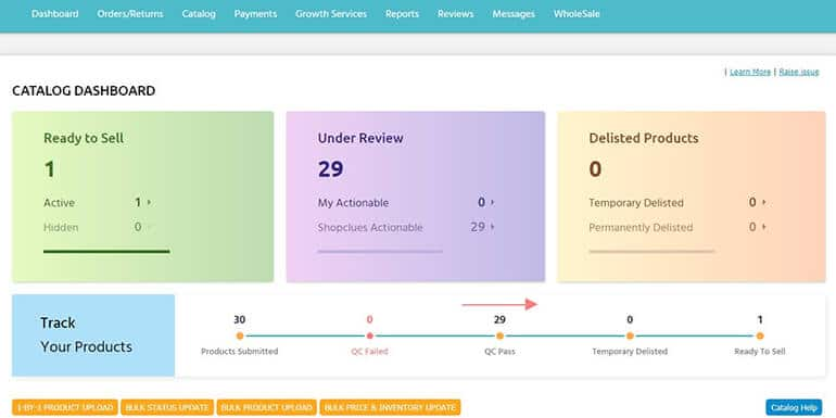How to Add Bulk Products in ShopClues Marketplace