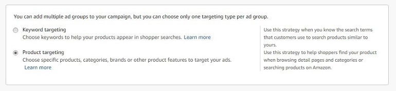 targeting in advertising campaign Amazon india