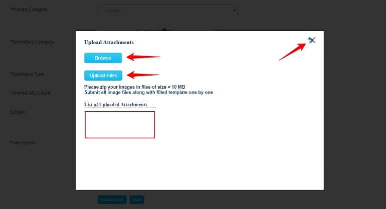upload attachments in bulk product listing in paytm