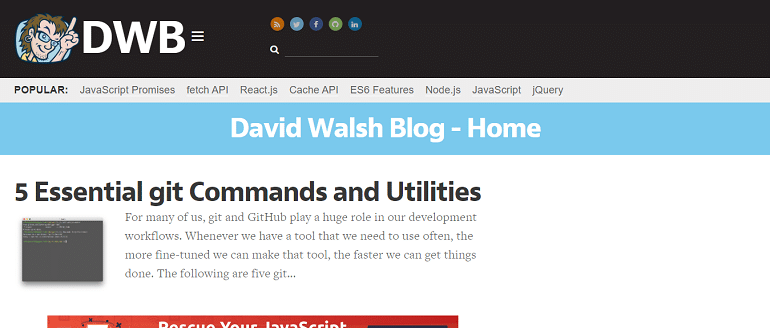 David Walsh Blog - JavaScript