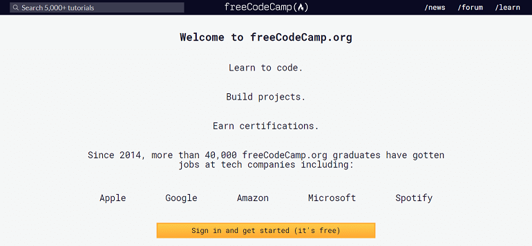 Learn to code freeCodeCamp org