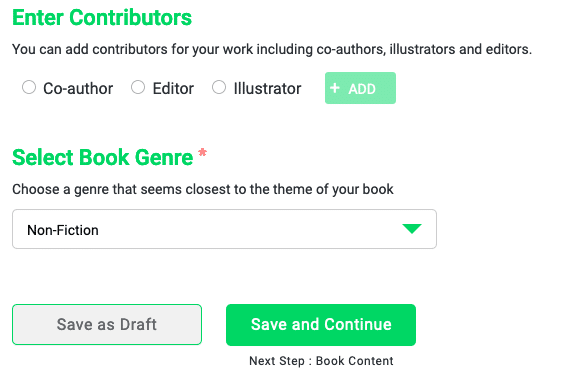 Other Contributors and Genre Details