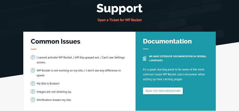 WP Rocket Support Find Answers Get Help Open A Ticket
