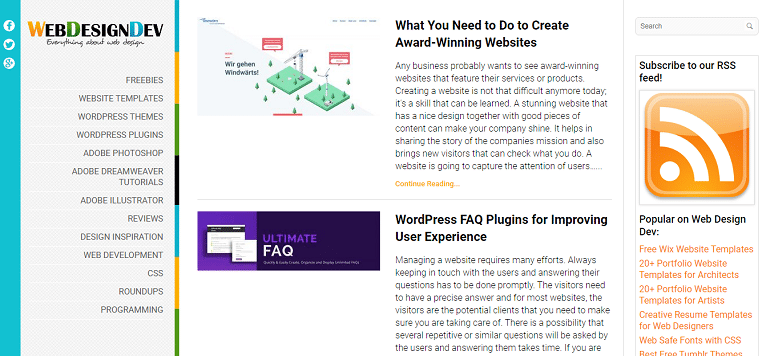 Web Design Blog Magazine for Designers
