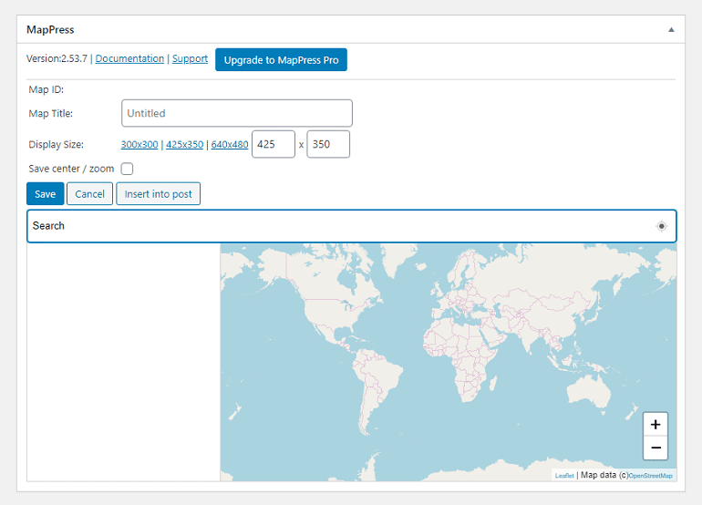 adding map using mappress plugin in wordpress