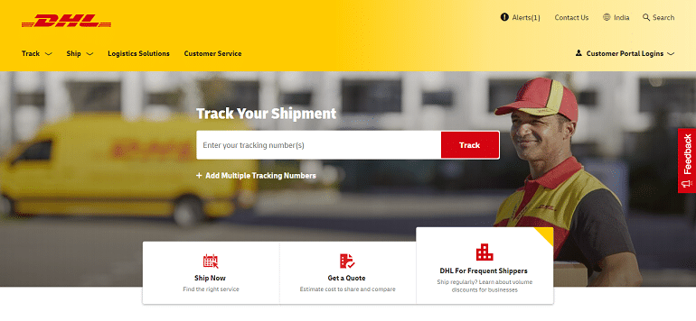 DHL global logistics international shipping services india