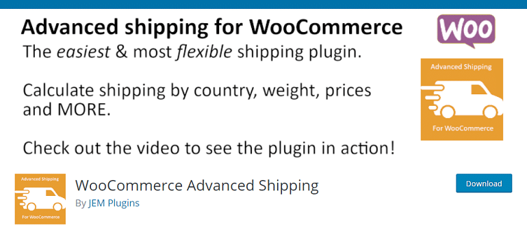 WooCommerce Advanced Shipping – WordPress plugin