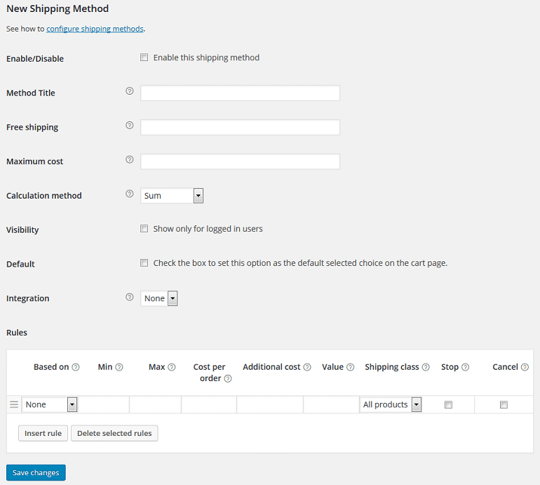 new shipping method in flexible shipping WooCommerce plugin
