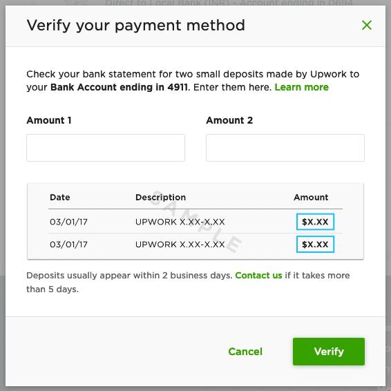 Enter Amount for Verification
