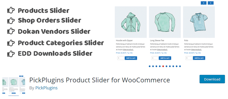 PickPlugins product slider plugin for woocommerce wordpress store