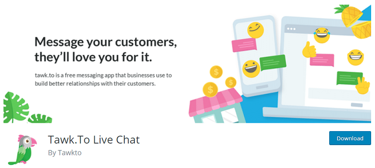Tawk to live chat woocommerce wordpress plugin