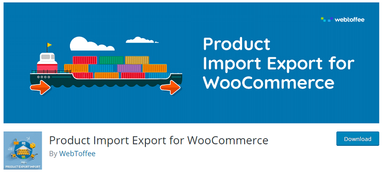 product import export woocommerce wordpress plugin