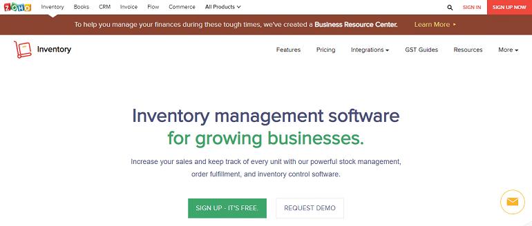 zoho inventory management tool